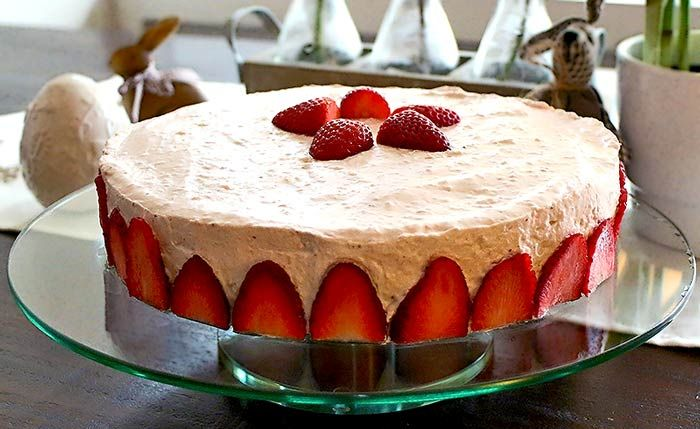 Low Carb Rezept  ErdbeerMascarponeTorte  Low Carb