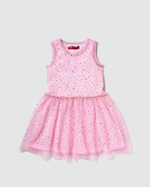 7467bd88b81 Vestido de tul de niña Agatha Ruiz de la Prada rosa