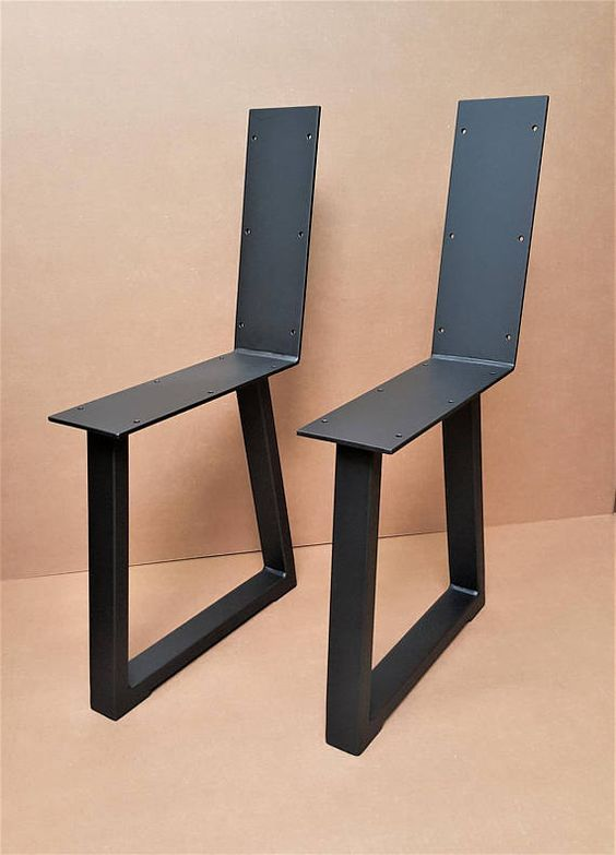 Set Of 2 Modern Chic Bench Legs Model Ttbr31b Tubing