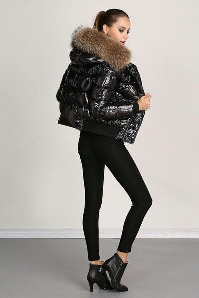 6e827fff821 #Moncler Alpin Puffy Jacket, Fur Jacket, Black Coats, Stylish Winter  Outfits,