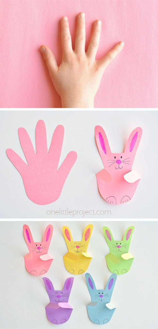 Photo of Paper Handprint Bunnies | Easy Easter Craft Using Construction Paper