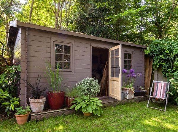 Abri de jardin en bois Arto, 12.99 m² Ep.28 mm prix promo Leroy ...