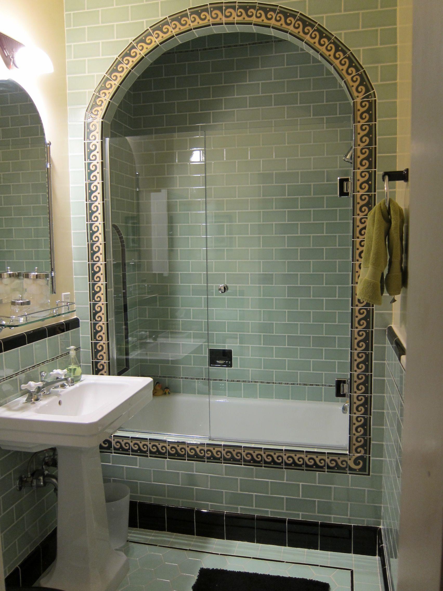 Guest Bath Spanish Style Bathrooms Green Bathroom Spanish Revival Bathroom