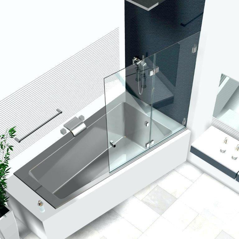 Badewannenaufsatz Badewanne Duschtrennwand Glas Duschwand