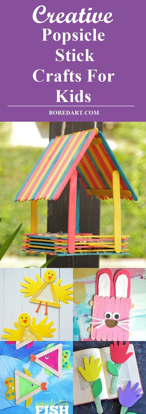 Photo of 40 Creative Popsicle Stick Crafts For Kids – Bored Art