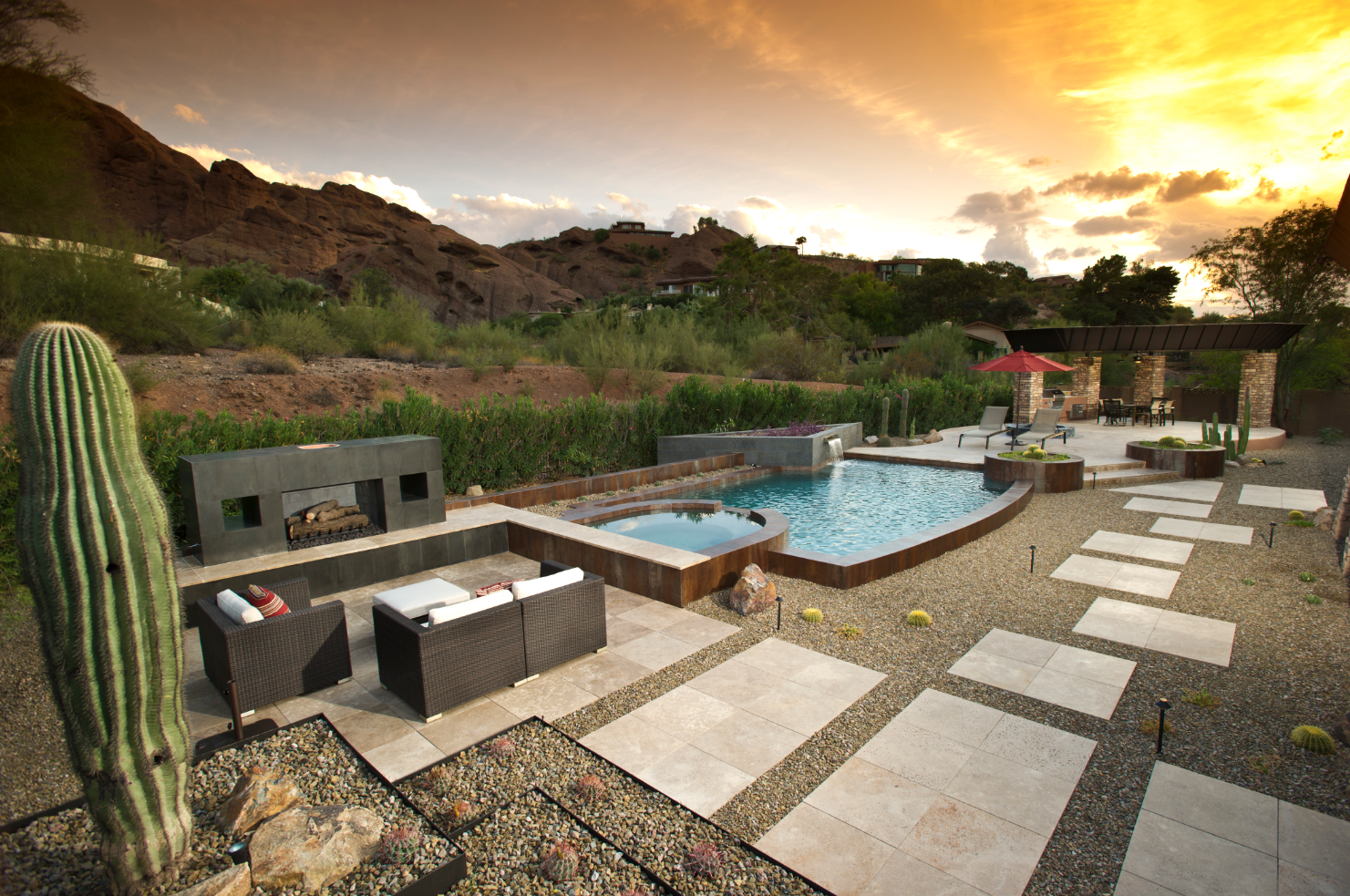 California Pools & Landscape | PebbleSheen: Blue Granite
