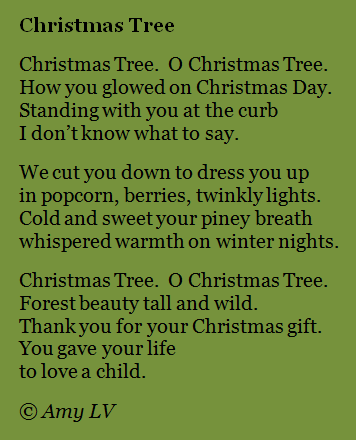 The Poem Farm: Goodbye to Christmas Trees - This poem about saying ...