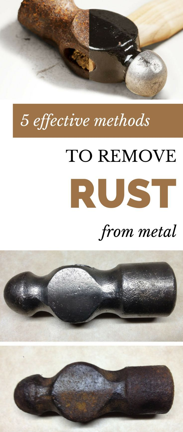Rust remover with metal: basic methods and materials
