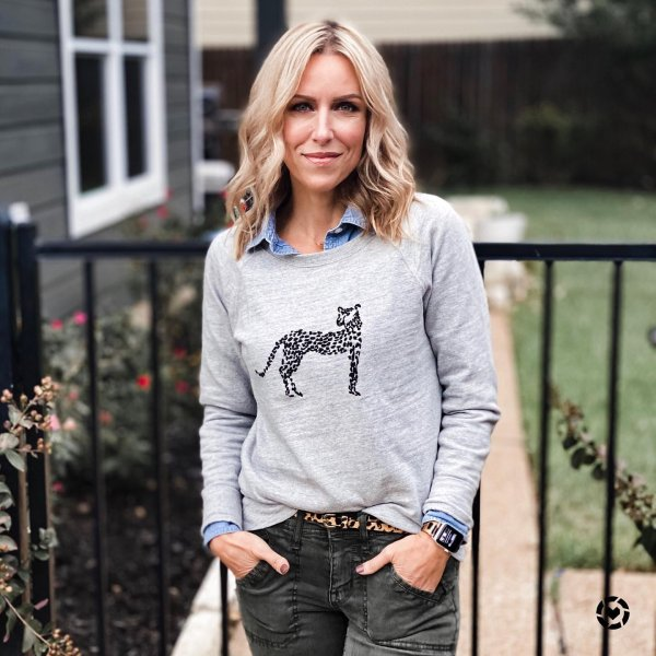 Shop LOFT for stylish women's clothing. You'll love our irresistible Cheetah Embroidered Sweatshirt - shop LOFT.com today! #loftclothes