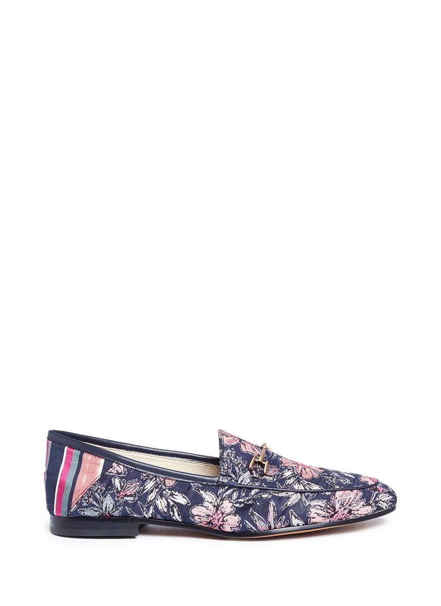 Sam Edelman Loraine Floral Jacquard Printed Loafers GsInjpp1Ny