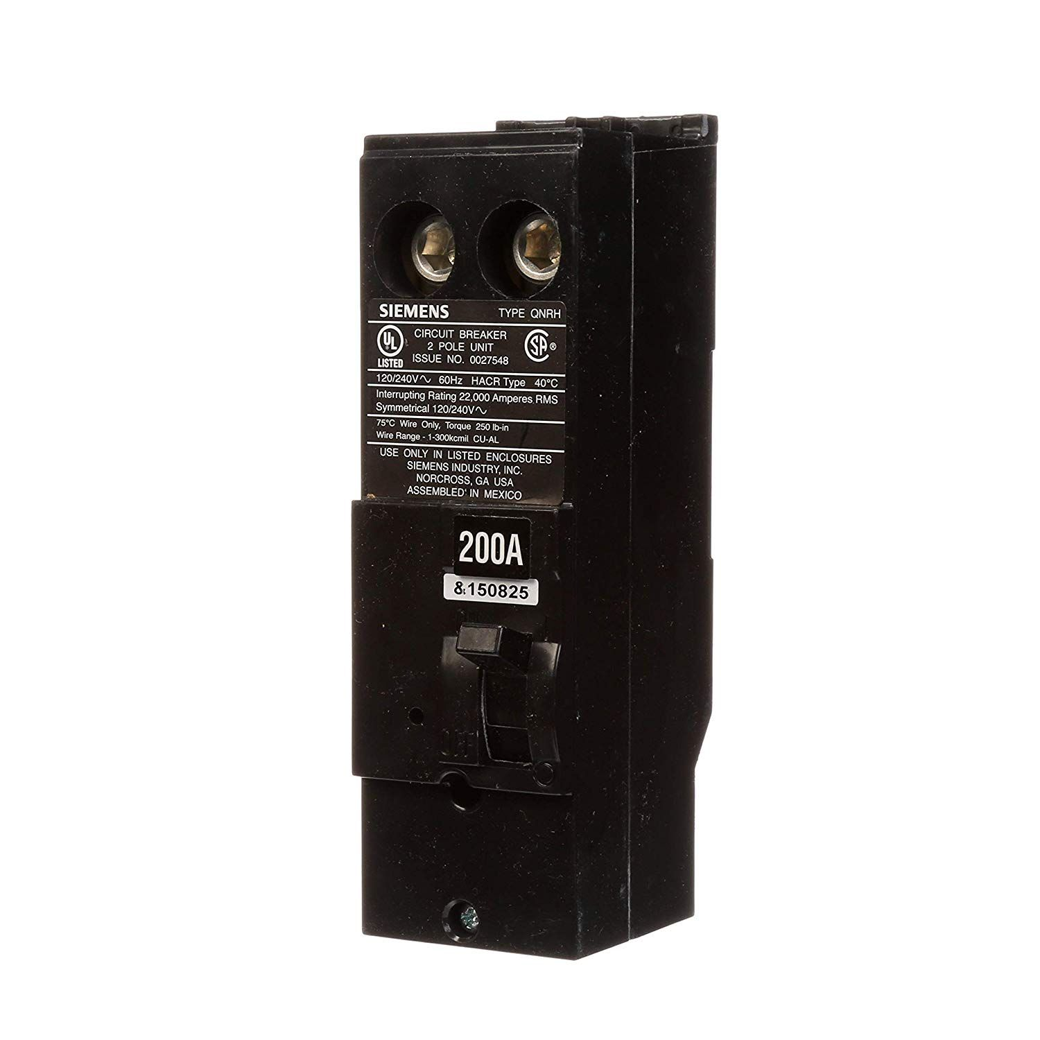 Siemens Qn2200rh 200 Amp 2 Pole 240 Volt Circuit Breaker Check This Awesome Product By Going To The Link At The Image This Is An Circuit Siemens Breakers
