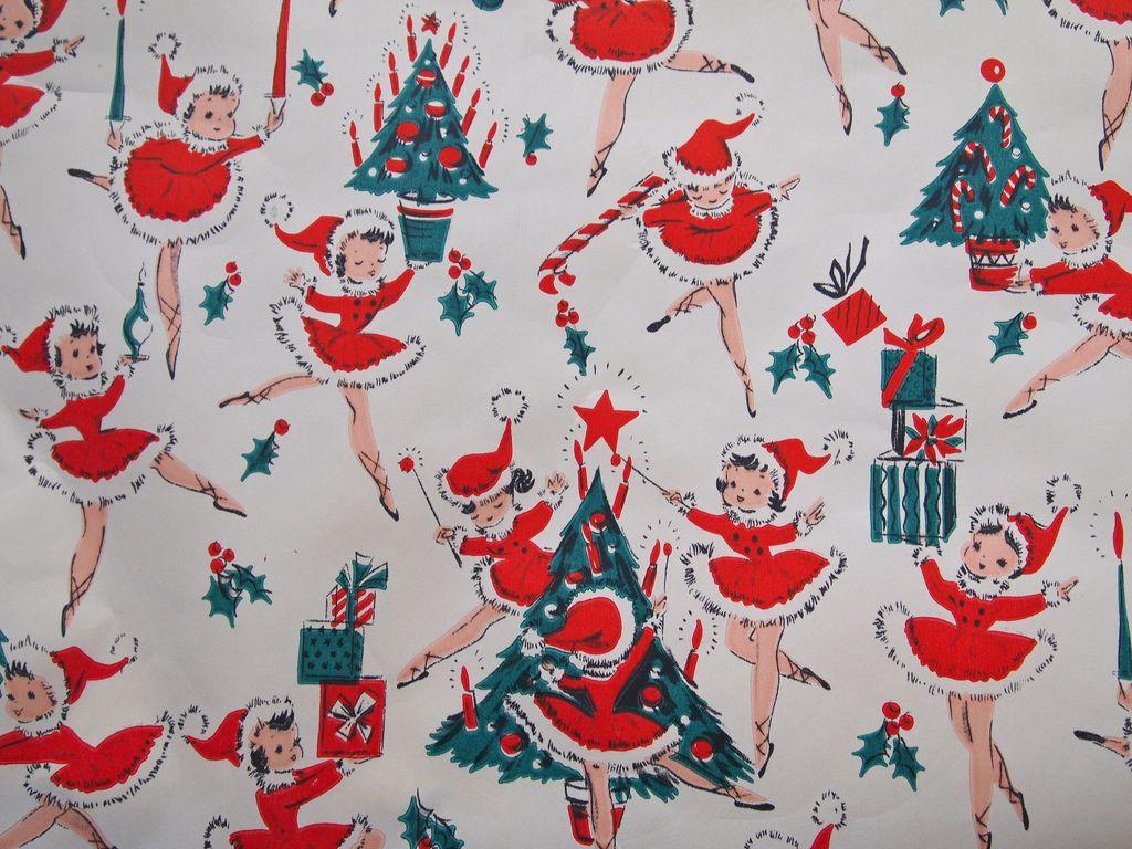 1950 S Christmas Paper Vintage Christmas Wrapping Paper Christmas Ephemera Vintage Christmas