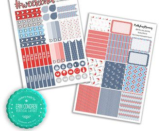Nautical Planner Mini Kit ECLP vertical by prettyeasyplanning. Explore more products on http://prettyeasyplanning.etsy.com