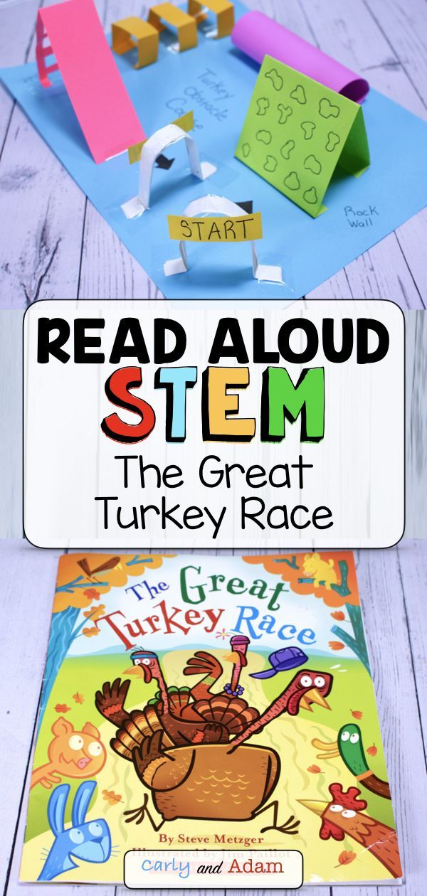 The Great Turkey Race Thanksgiving READ ALOUD STEM™ Activity #stemactivitieselementary