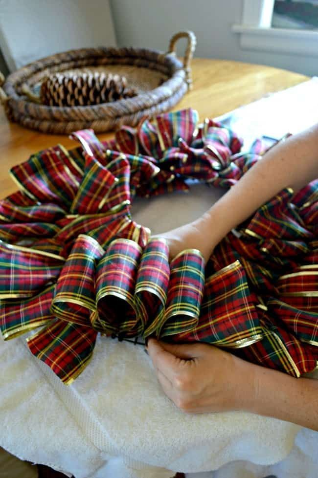 Photo of How to Make a Ribbon Wreath for Christmas