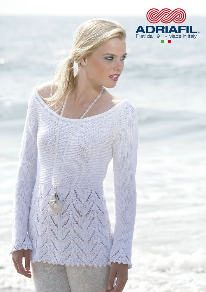 Free Knitting Pattern For Womens Top Diana Pullover In Adriafil