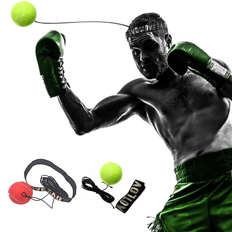 Pro Gym Boxing Fight Ball with Head Band for Reflex Speed Boxer Training Punch