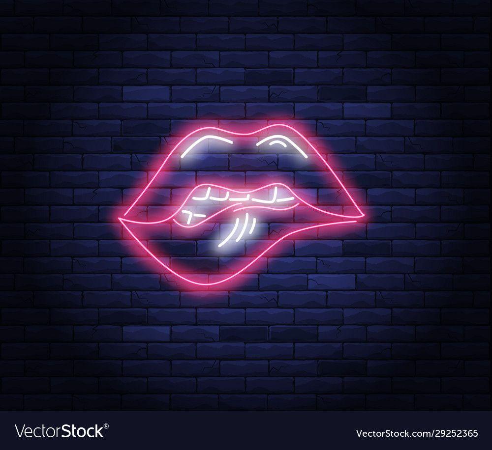 Pin On Neon Lips