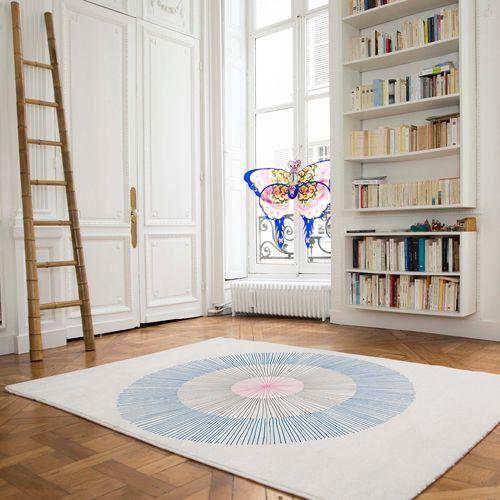 Tapis design Pissenlit Edito Beige / Bleu - PM Interiors, Spaces