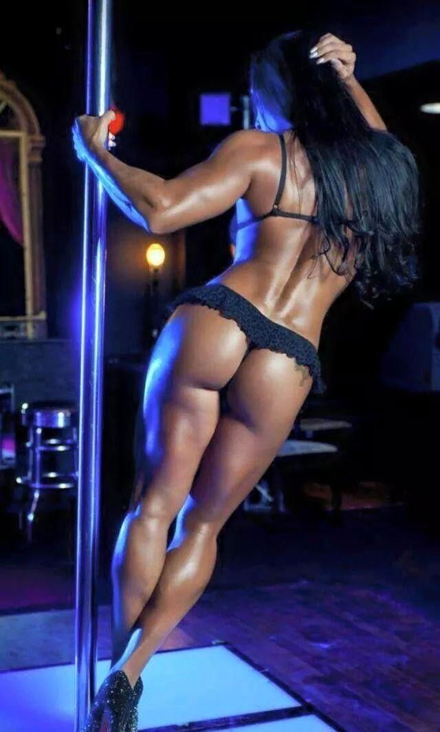 Thick black girl pole stripper — pic 6