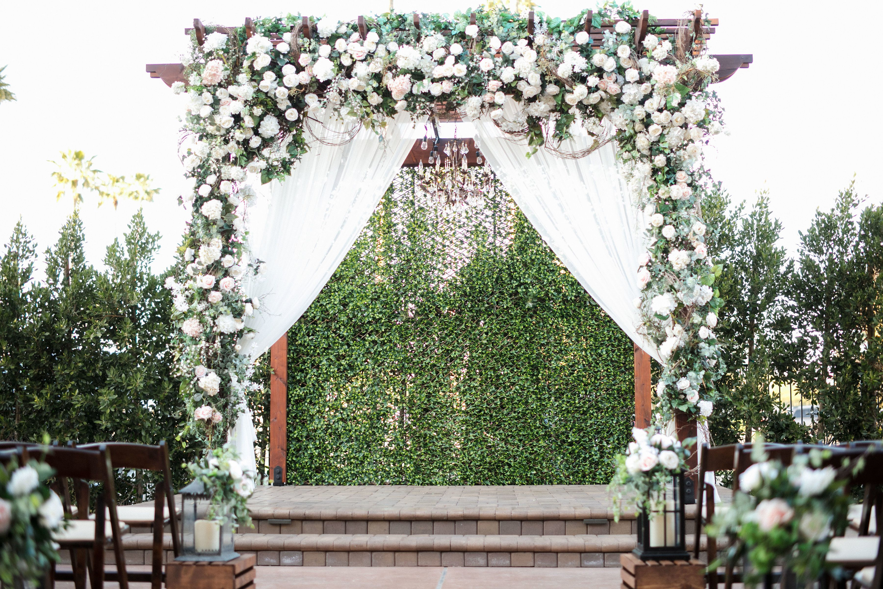 Our Floral Arch Is To Die For For Our Outdoor Courtyard Wedding