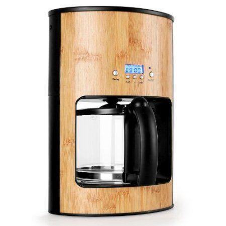 Designer Kaffeemaschine klarstein bamboo garden design kaffeemaschine aus bambus holz