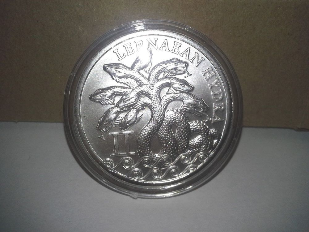 Lernaean Hydra Hercules 1 Troy Oz Ounce 999 Silver Round Snake Silver Bullion Silver Bullion Coins Silver Rounds