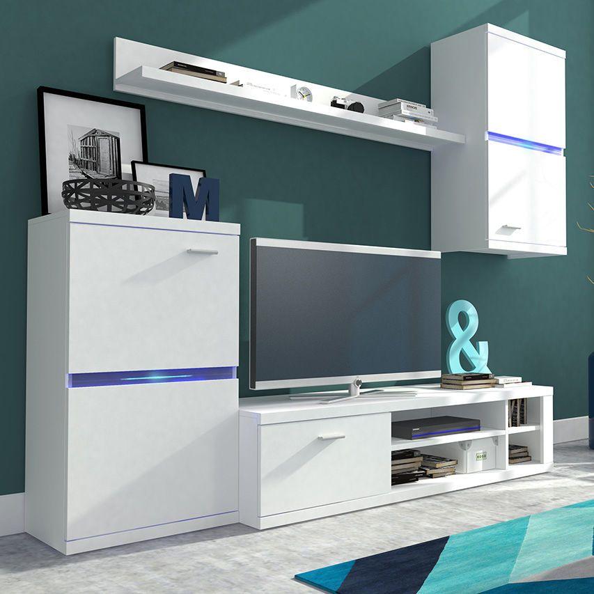Moderne Wohnzimmer Set Mobel Wohnwand Anbauwand Lambo Dengan Gambar