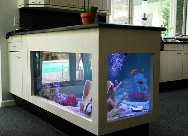 Kitchen Island Brings The Tropics With Aquarium To Your Home Decor10 Blog Custom Fish Tanks Fish Tank Fish Home