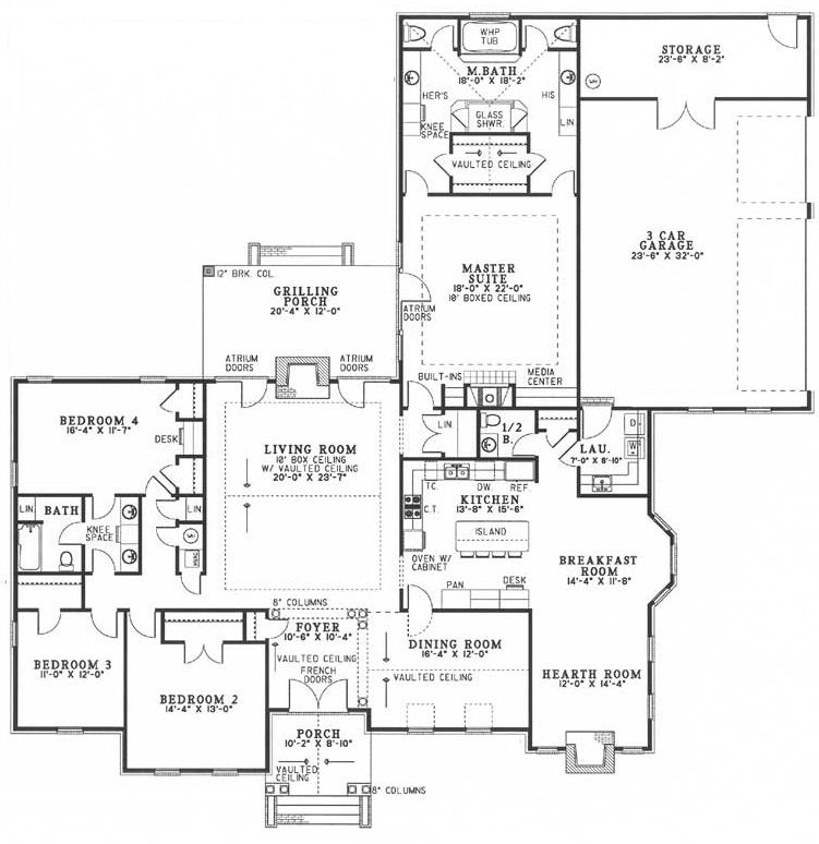 Luxury Cottage Style House Plan 7306 Chatham Grove Hgtv Dream Home Floor Plans House Plans