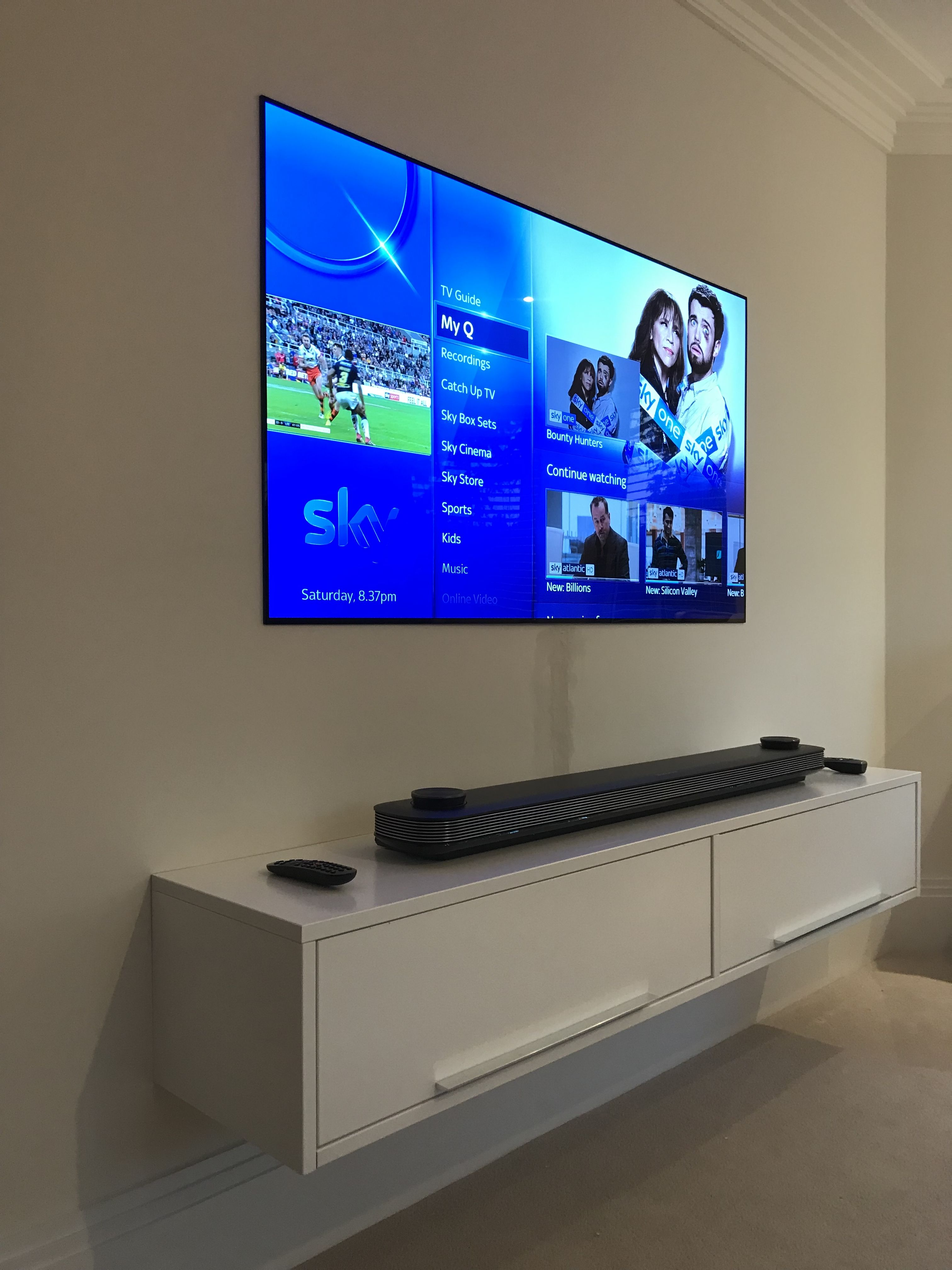 65 Lg Signature 4k Wallpaper Tv Tv In Bedroom Wall Mounted Tv Design Studio Office