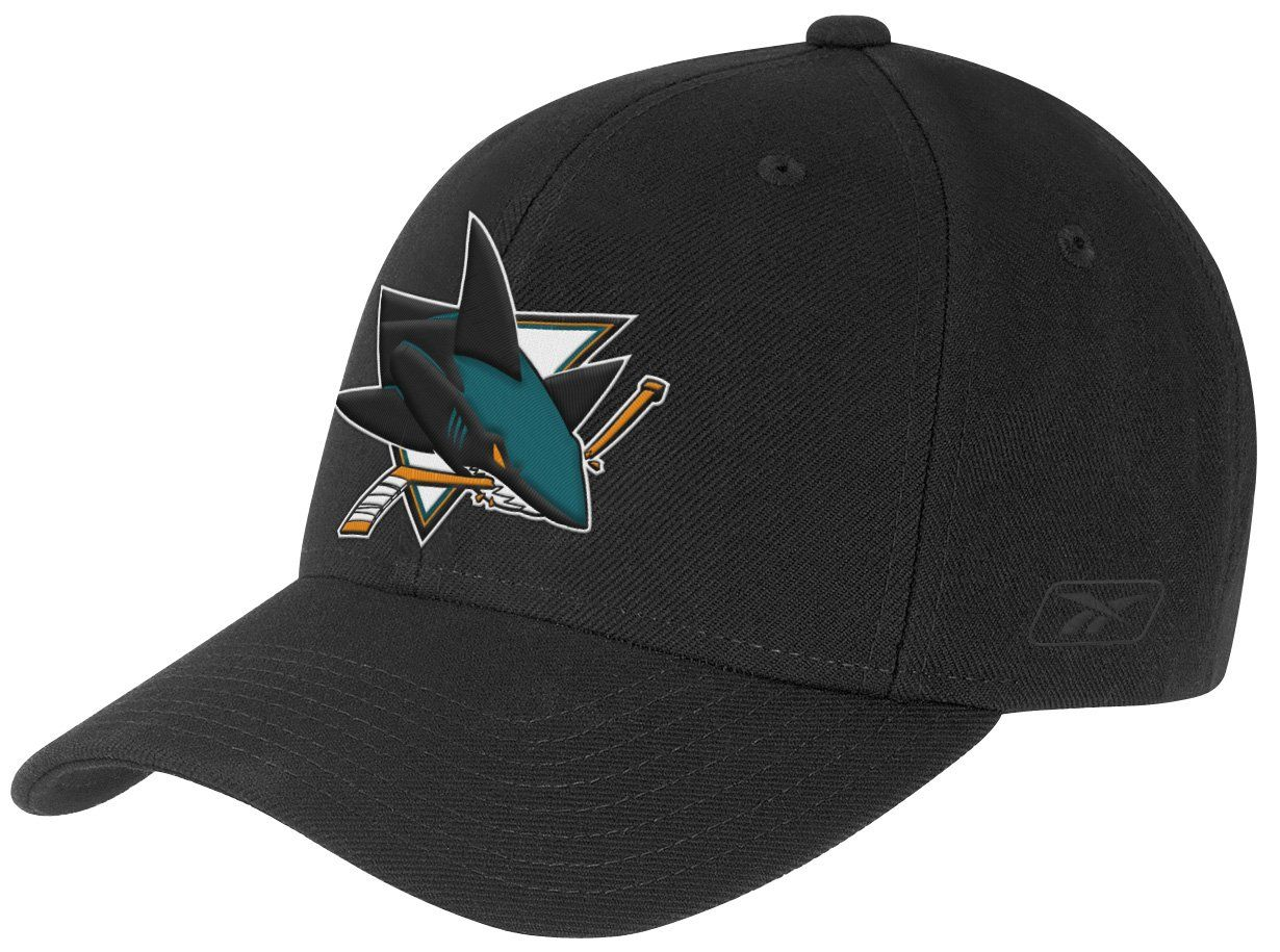 the best attitude 7e99a 612ee San Jose Sharks Fanatics Branded Iconic Bold Speed Stretch Fit Flex Hat –  Black White   Products   San jose sharks, Hats, Shark hat