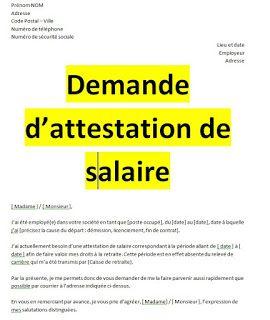 Exemples De Demandes Attestation De Travail Word Word Doc