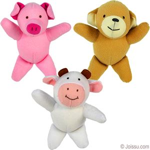 MINI PLUSH ANIMALS. With soft flannel bodies, imprinted ...