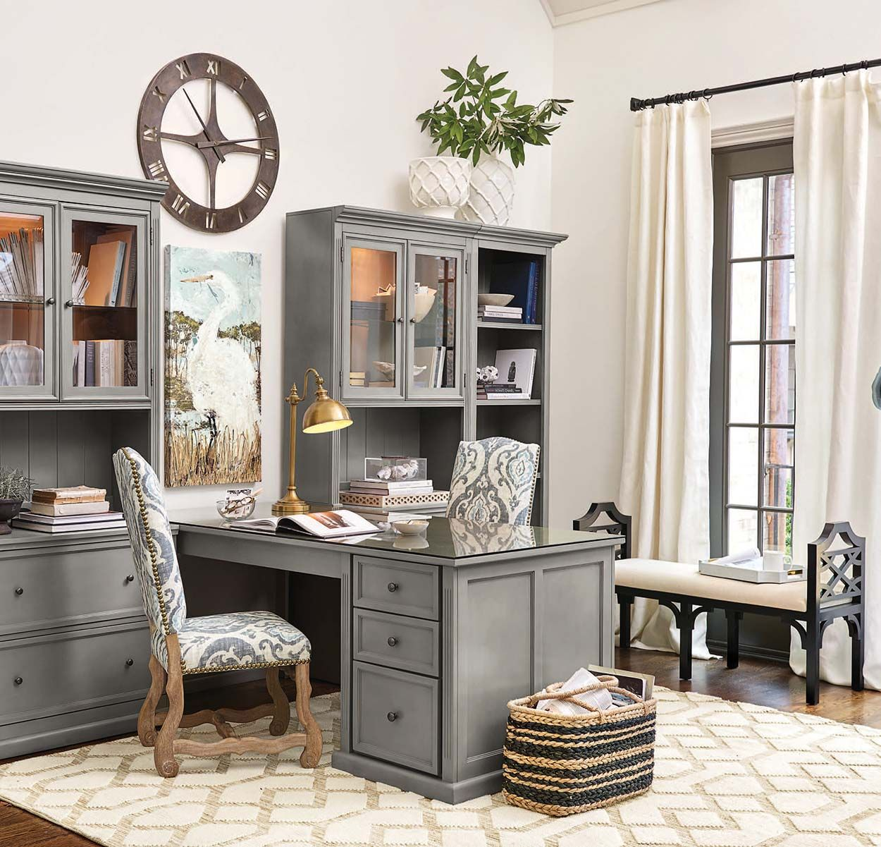 Find design and decorating inspiration from our offices workspaces photo gallery also tuscan desk return with file consoles hutches tuscandecor rh pinterest