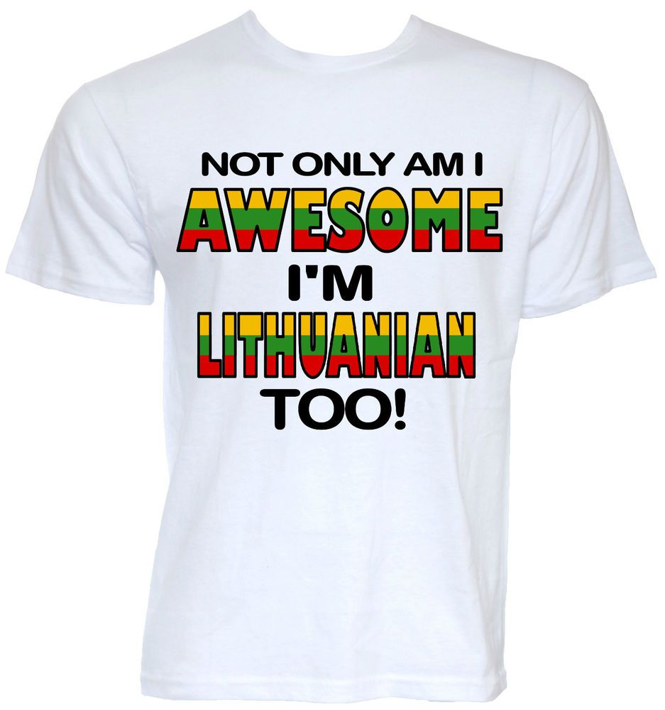 1248a5cb MENS FUNNY COOL NOVELTY LITHUANIAN FLAG LITHUANIA T-SHIRT JOKE GIFT PRESENT  IDEA