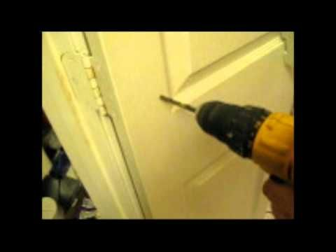 Attaching Almost Anything To A Hollow Core Door Including Mirrors Spice Racks Etc This Film Shows How To Use Hollow Core Doors Diy Door Pantry Door Storage