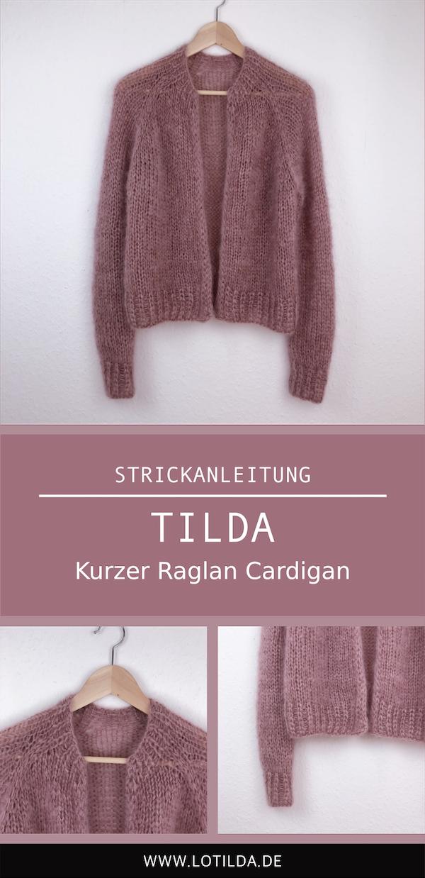 Photo of TILDA – Kurze Raglan-Strickjacke • LOTILDA
