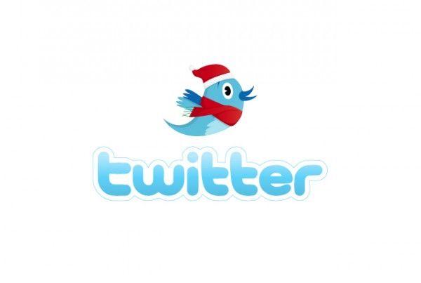 Twitter Xmas logo design