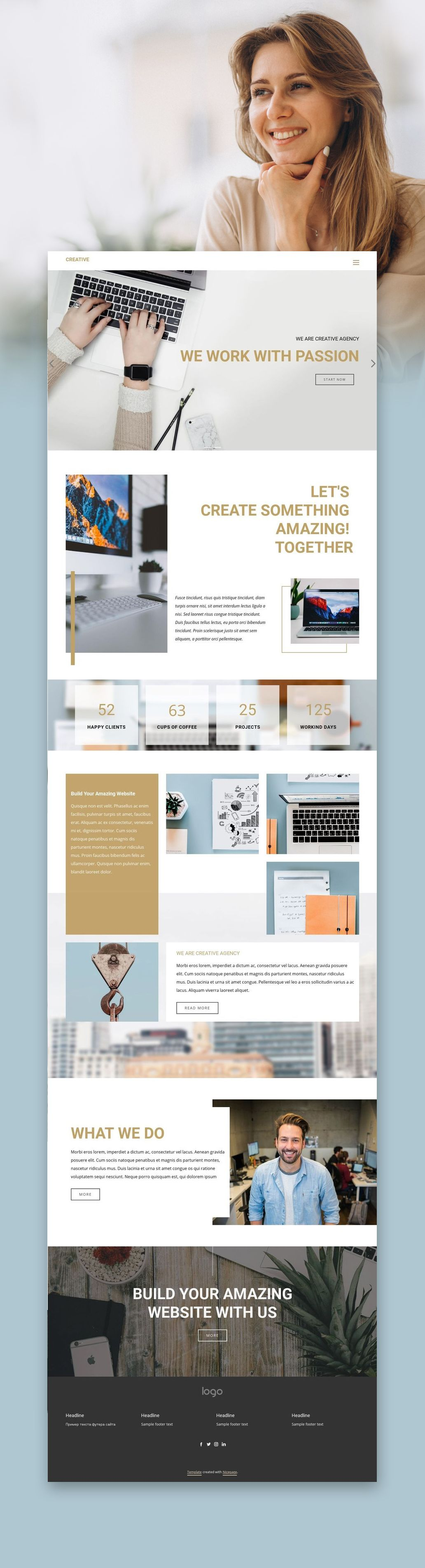 Nicepage Is A Free Mobile Friendly Website Builder Choose From 1000 Trendy Web Templates Customize To Get The Exact Web Dizajn Veb Sajtov Veb Dizajn Dizajn