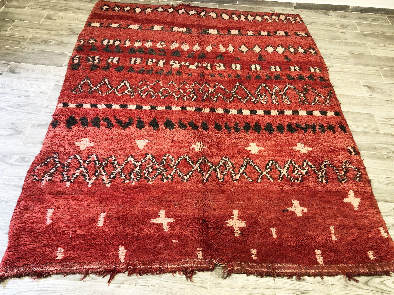 Gogerous Boujaad Carpet Berber Handmade Rug 100 Wool 198cm X 255cm 6 5ft X 8 4ft Free Shipping In 2020 Vintage Carpet Berber Women Rugs