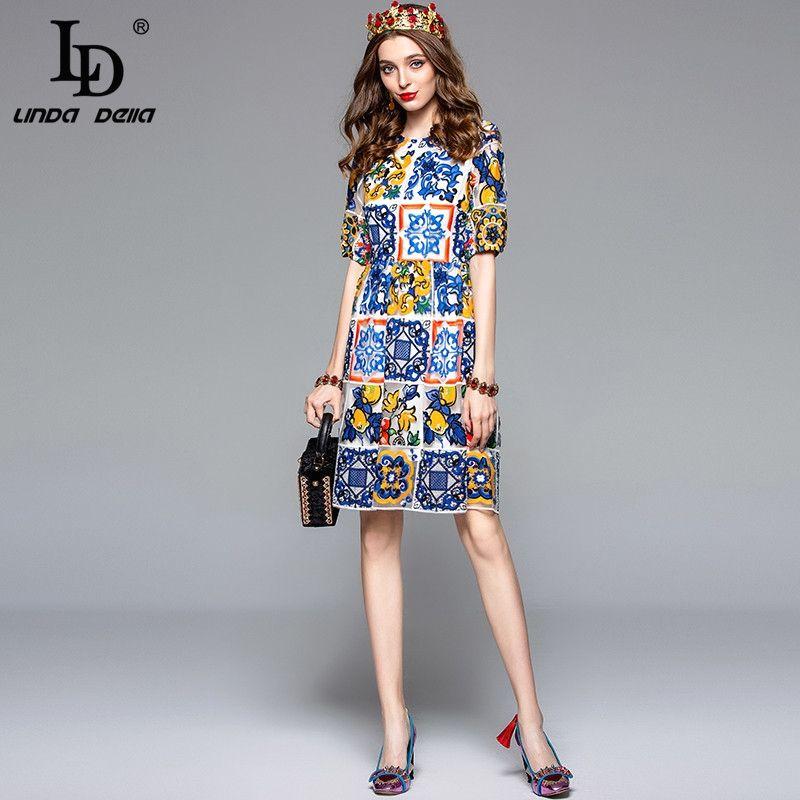 0f75623cc2 Fashion Designer Vintage Dress Women's Short Sleeve Gorgeous Lace ...