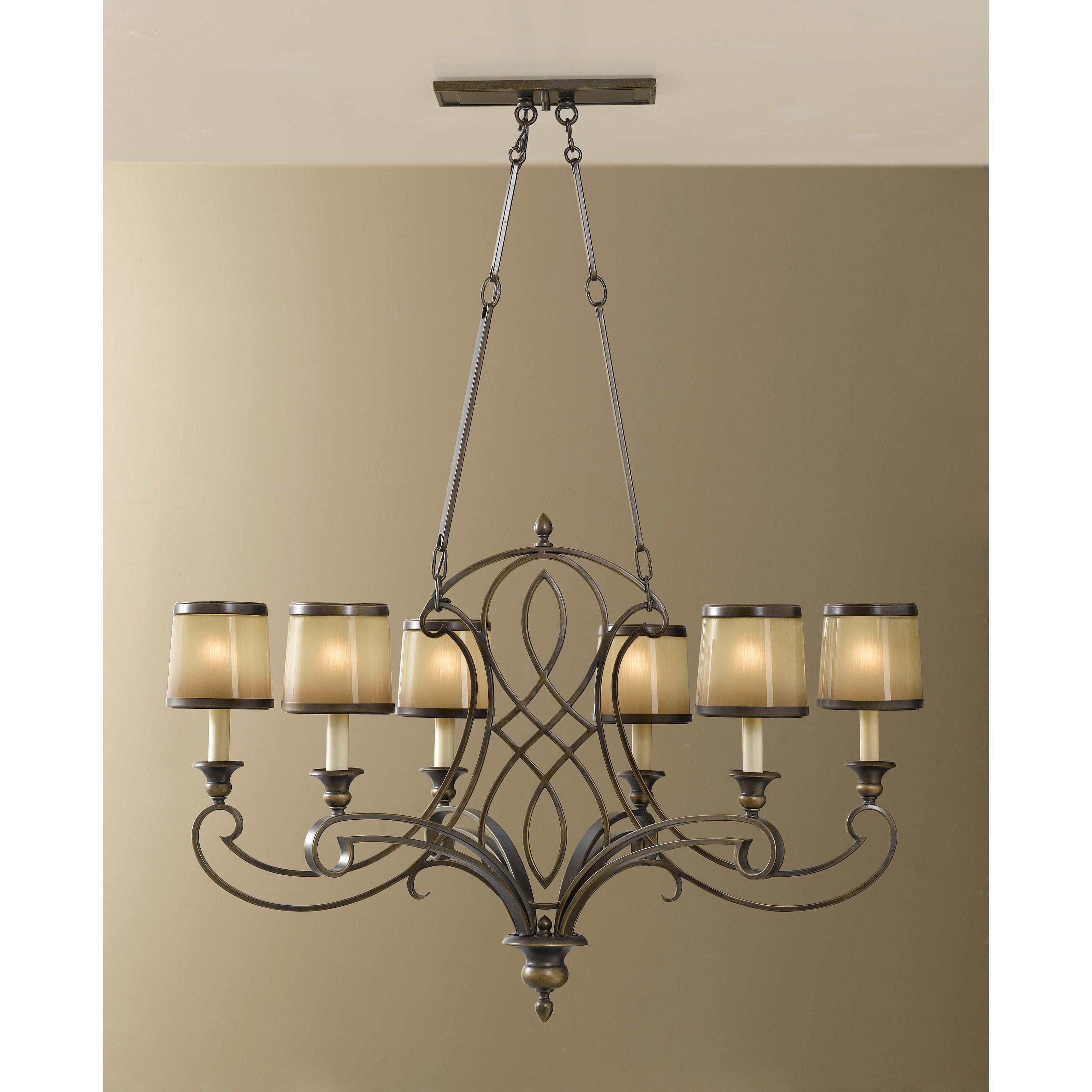 Feiss Justine F2530 / 6ASTB Chandelier - Astral Bronze | from ...