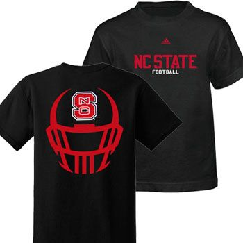 Nc State Football Black Helmet Mask Youth T Shirt Nc