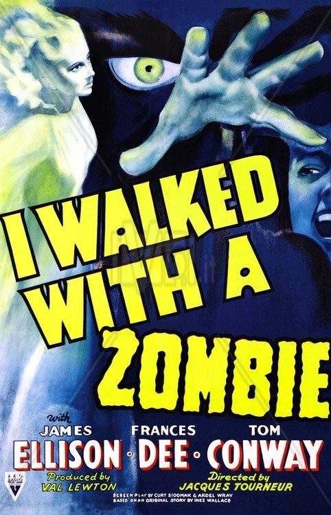 I Walked With A Zombie, 1943 - best example of Val Lewton's less is more approach to #horror