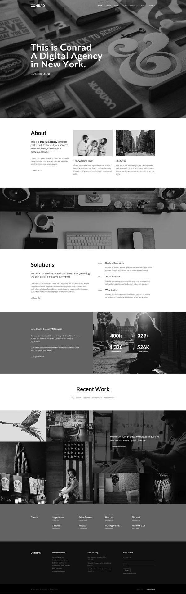 Conrad - Creative Multi-Purpose HTML Template | PSD Templates ...