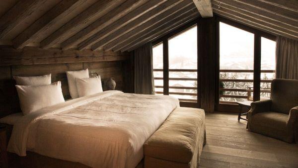 30 Ideen für gemütliche Schlafzimmer Einrichtung im Stil Chalet ...