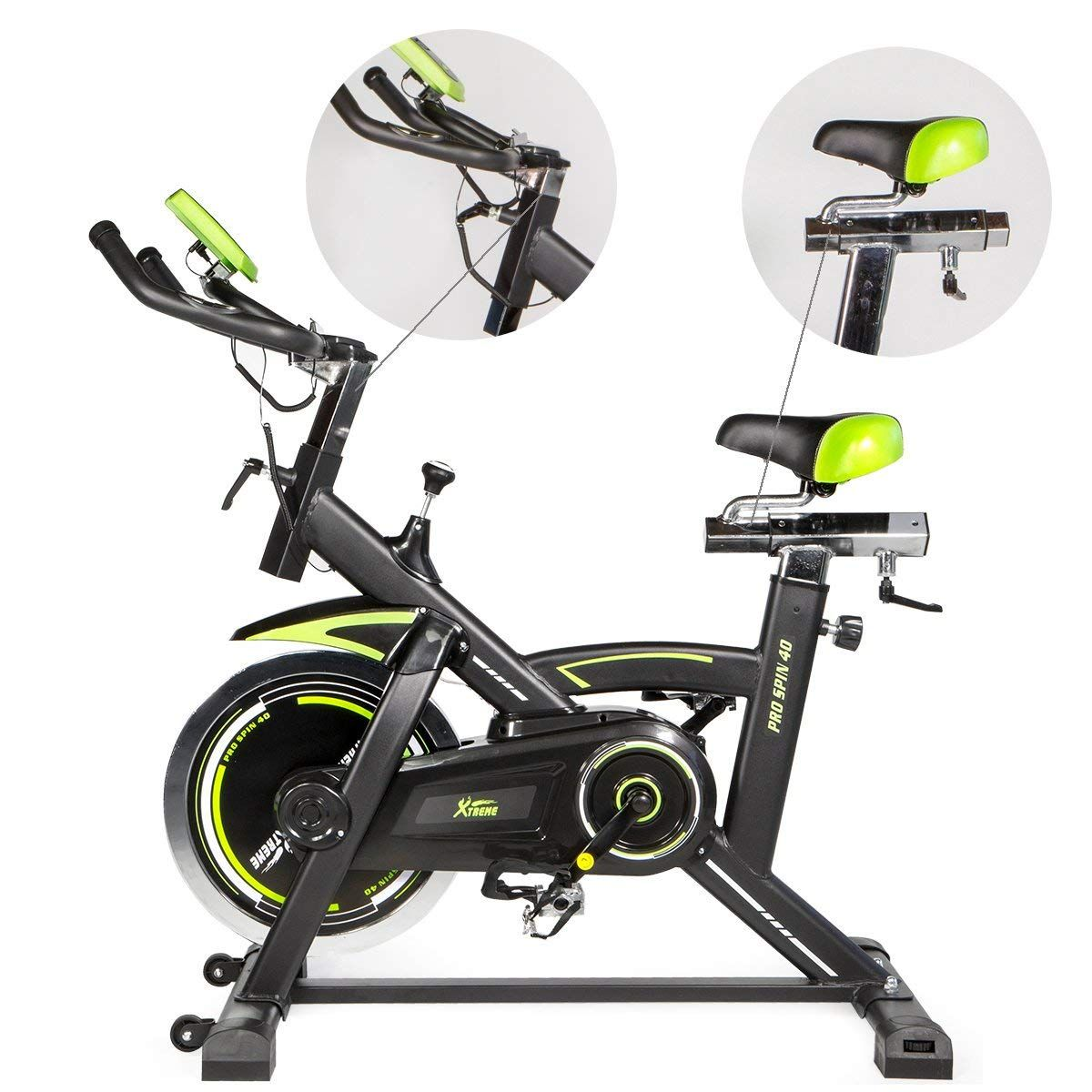 Indoor Cycling Bike-29lbs Flywheel Stationary Exercise Bikes LCD Monitor Pink