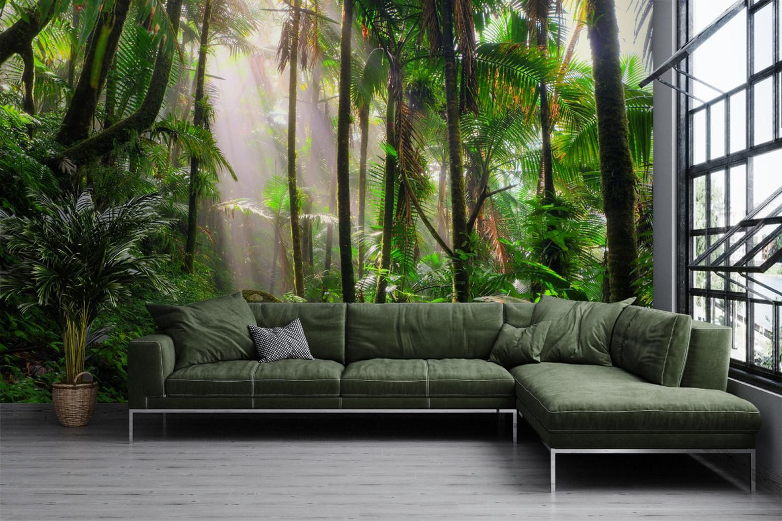 Forest Wallpaper Peel and Stick Tropical Forest Wall Mural