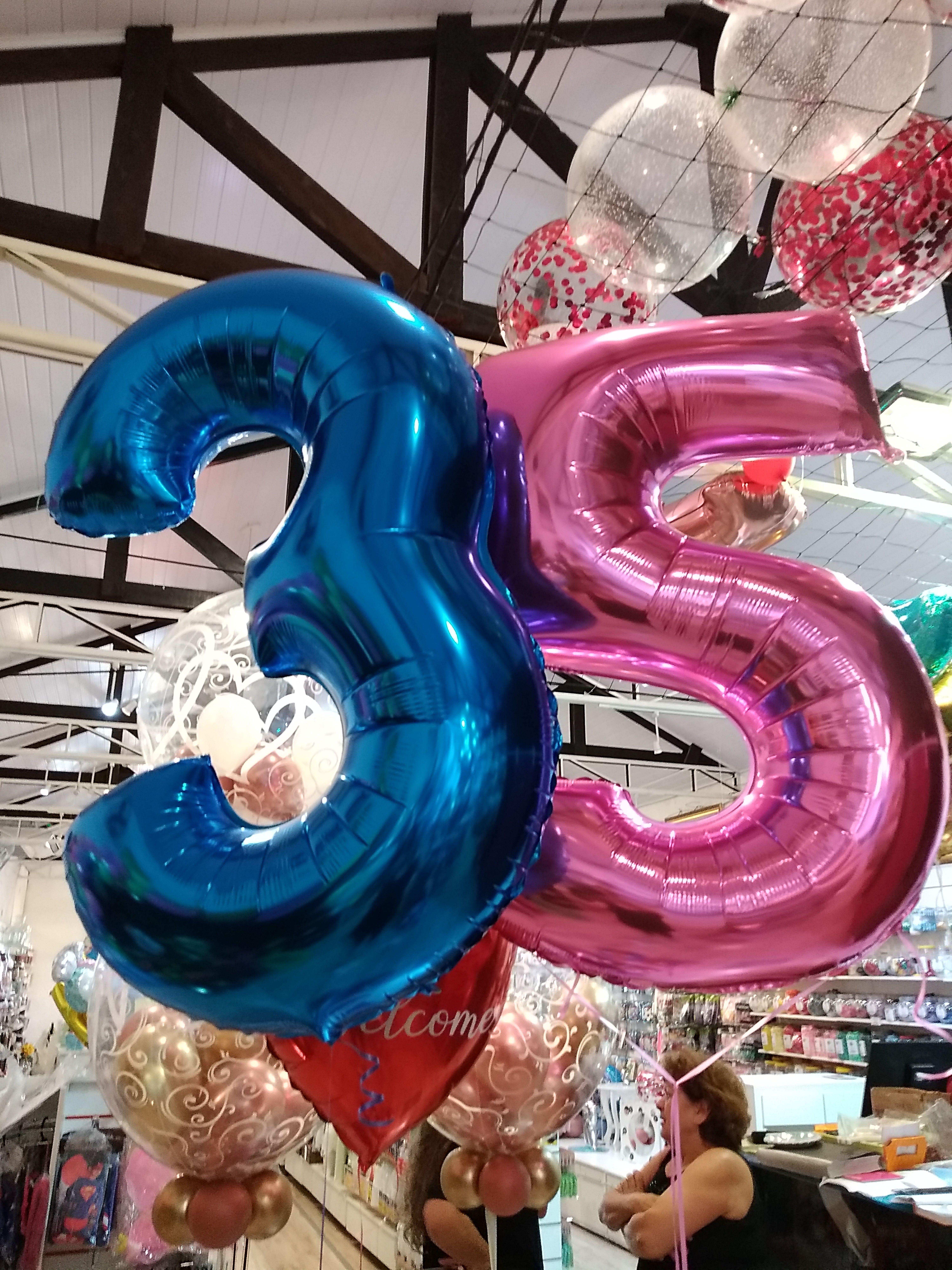 Esses Baloes De Numero Sao Demais Tem Azul Rosa Preto Prata